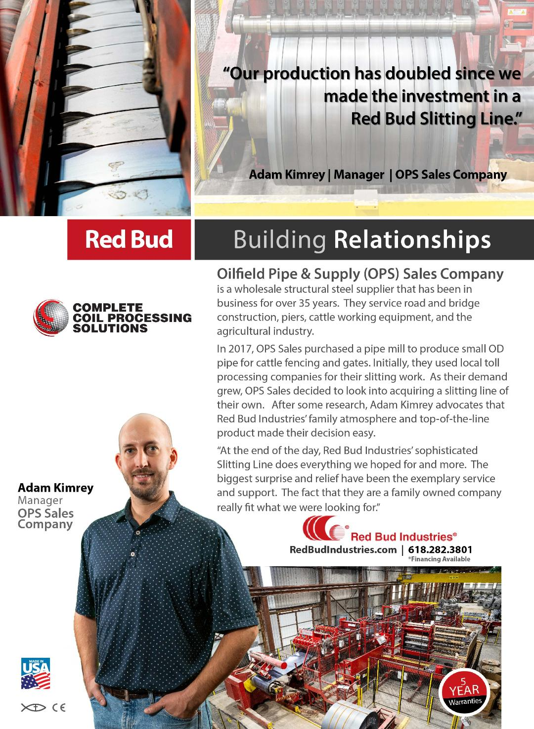 Oileld Pipe & Supply (OPS) Sales Company Testimonial