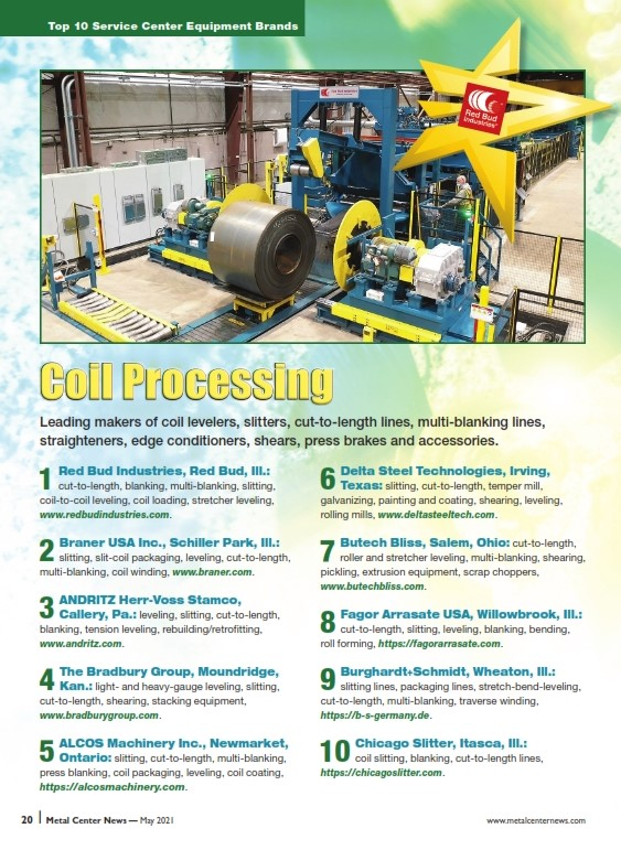 MCN #1 for Coil Processing Equipment