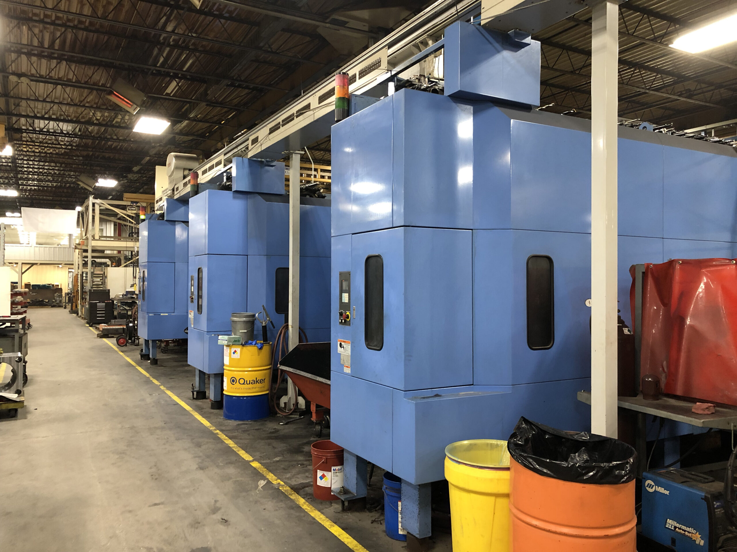 Multiple Mazak CNC Milling Machines with Tooling Raceway