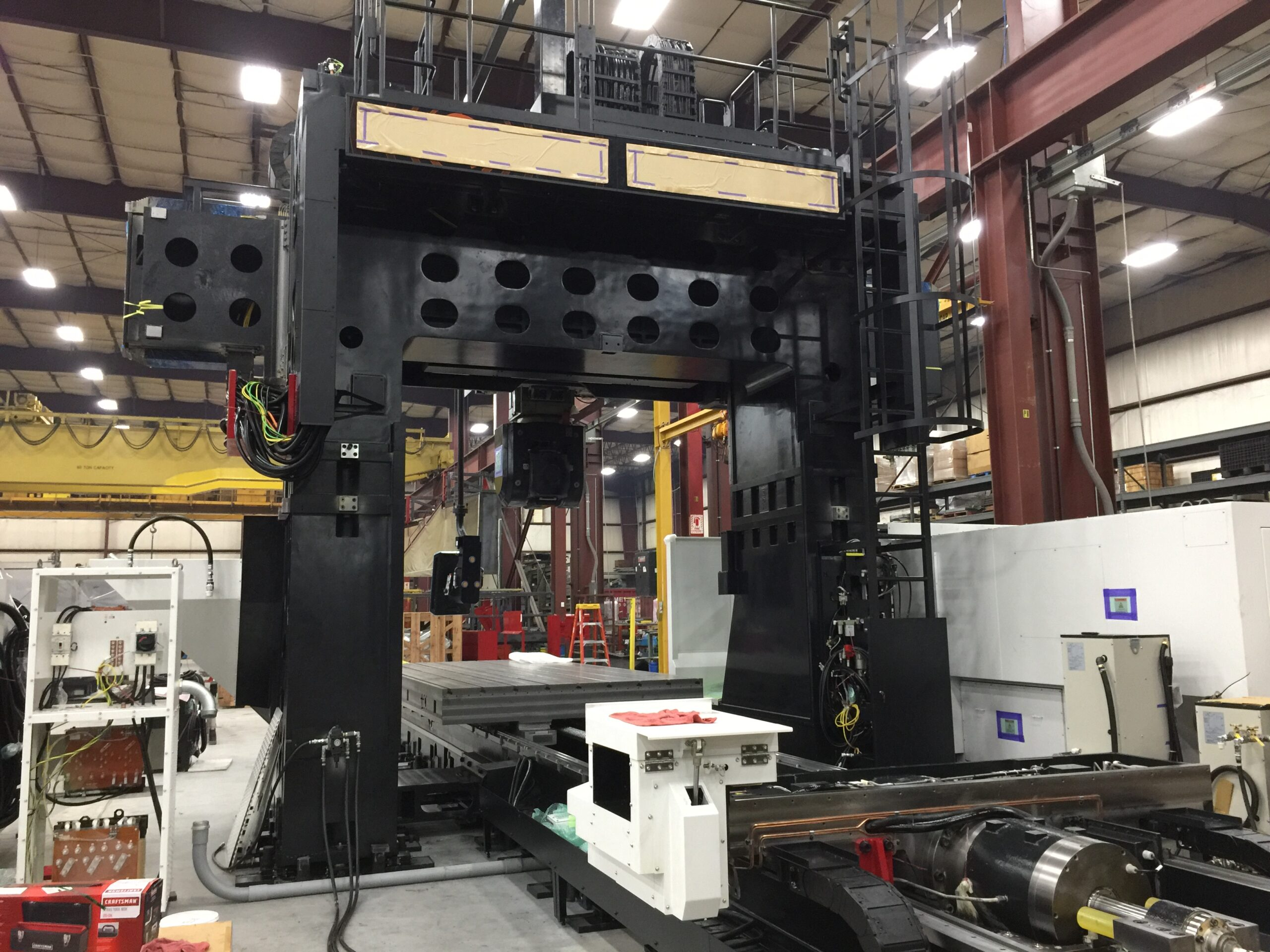 Large Mazak Milling Machine with 60,000 Lbs part capacity